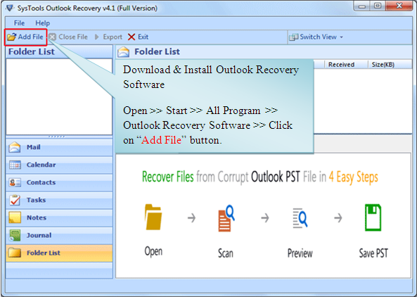 Repair Outlook tool to Repair Outlook files